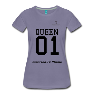 "Women DJ's Dream Logo - ""Married To Music"" Queen 01 Women's Premium T-Shirt - washed violet"