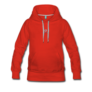 Next Level *Official Long Sleeve Women's Premium Hoodie - red