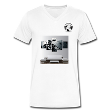"Load image into Gallery viewer, Premier DJ E-Luv Logo - ""Wreck Da Decks"" Wall Art - Men's V-Neck T-Shirt by Canvas - white"