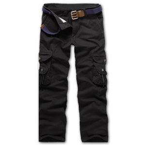 Casual Loose Fit  Zip Fly Multi-Pockets Cargo Pants For Men