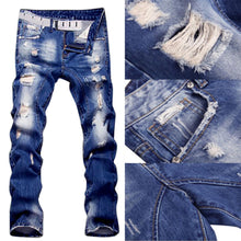 Load image into Gallery viewer, NEW Style & Fashion Ripped Men's Straight Legs Denim Jeans