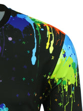 Load image into Gallery viewer, Crew Neck 3D Colorful Hand Splatter Paint Print Sweatshirt