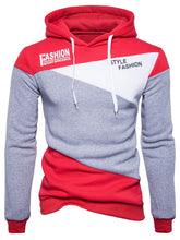 Load image into Gallery viewer, Style Fashion Men's Color Block *Breathable Graphic Fleece Hoodie