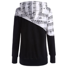 Load image into Gallery viewer, NEW Fashion Music Notes Two-Tone Women's Stylish *Breathable Hoodie