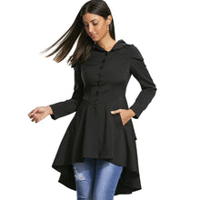 Load image into Gallery viewer, NEW Fashion Layered Laced Up High-Low Women's Hooded Stylish Coat
