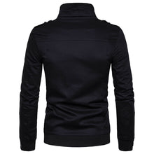 Load image into Gallery viewer, Men's New Fashion Epaulet Design Pockets Zip Up Cargo Jacket