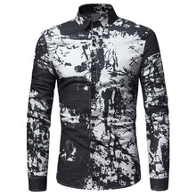 Load image into Gallery viewer, Men's Tie Dye *Breathable Print Cotton Linen Long Sleeve Dress Shirt