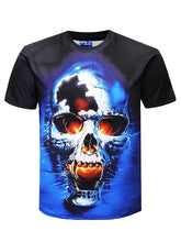 Load image into Gallery viewer, Skull Print Short Sleeve T-shirt