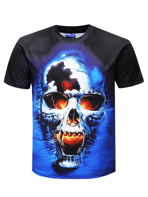 Skull Print Short Sleeve T-shirt