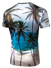 Load image into Gallery viewer, Crew Neck 3D *Breathable Seaside Coco Print Men's Dress T-shirt