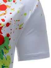 Load image into Gallery viewer, Colorful Spatter *Breathable Paint Print Men's Short Sleeve Dress Shirt