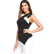 Load image into Gallery viewer, NEW Fashion Women's Back Zip Asymmetrical Flare Tank Top