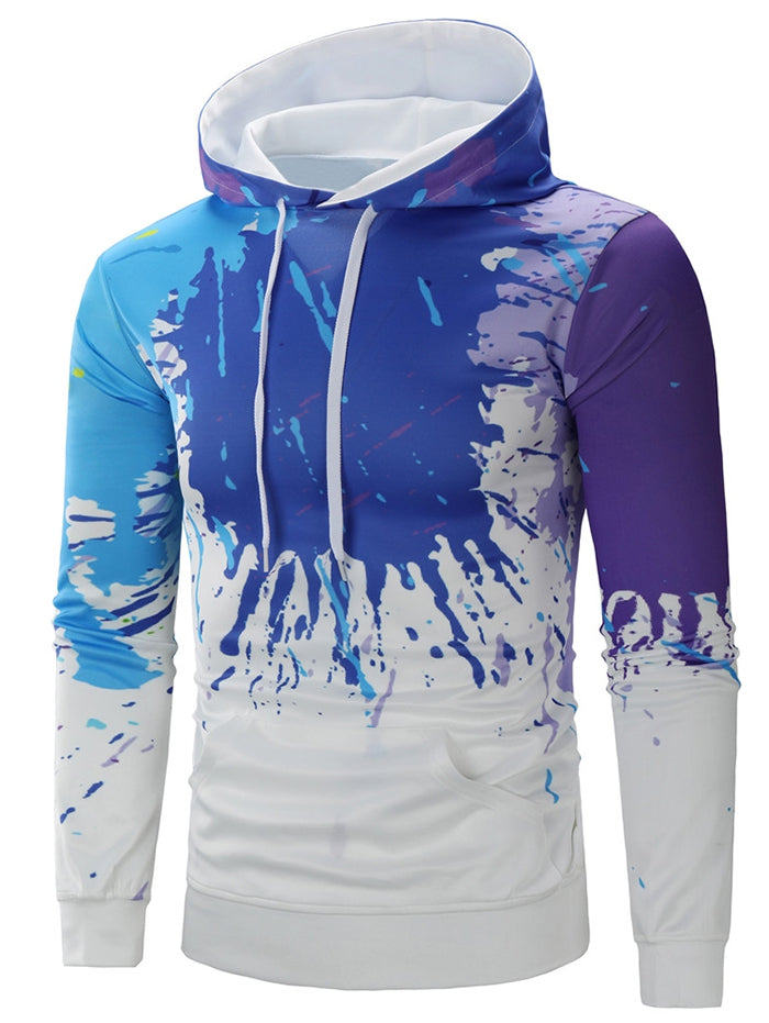 Paint Splatter Stylish Breathable Long Sleeve Hoodie