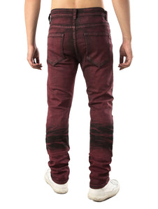 New Style Color Wash Stretchy Ripped Jeans