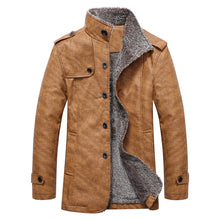 Load image into Gallery viewer, Epaulet Design Stand Collar Men's Single Breasted Coat