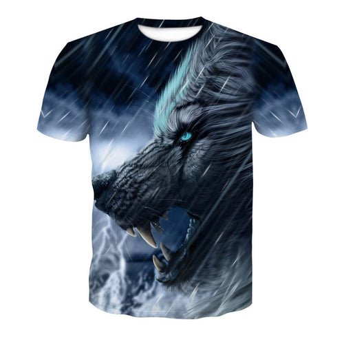 3D Print Men's Casual Short Sleeve Graphic T-Shirt