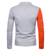 Load image into Gallery viewer, New Fashion Men's Long Sleeve Contract Color Dress T-Shirt