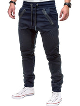 Load image into Gallery viewer, Stitch Zipper Embellished Casual Jogger Pants