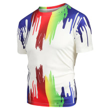 Load image into Gallery viewer, Stylish Splatter Paint Print Short Sleeves Tee