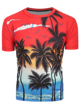 Load image into Gallery viewer, New Fashion Palm Tree Print Short Sleeve T-Shirt