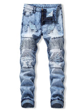 Load image into Gallery viewer, New Style Drape Panel Ripped Design Stylish Men Jeans