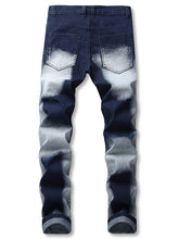 Load image into Gallery viewer, New Style Ombre Print Patchworks Decoration Jeans