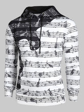 Load image into Gallery viewer, Musical Note Print Casual Long-sleeved Hoodie