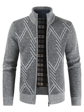 Load image into Gallery viewer, Geometric Pattern Long Sleeves Men Cardigan