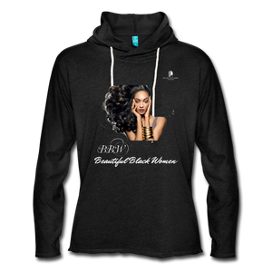"""Beautiful Black Women"" Line - (Inviting) Unisex Lightweight Terry Hoodie - charcoal gray"
