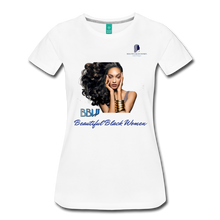 "Load image into Gallery viewer, ""Beautiful Black Women"" Line - (Inviting) Soft Premium Cotton T-Shirt - white"