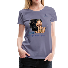 "Load image into Gallery viewer, ""Beautiful Black Women"" Line - (Inviting) Soft Premium Cotton T-Shirt - washed violet"