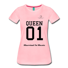 "Load image into Gallery viewer, Women DJ's Dream Logo - ""Married To Music"" Queen 01 Women's Premium T-Shirt - pink"
