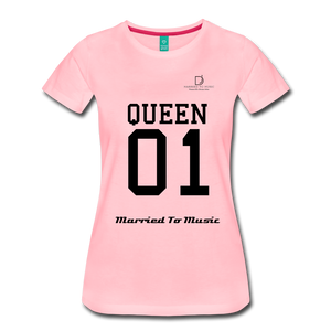 "Women DJ's Dream Logo - ""Married To Music"" Queen 01 Women's Premium T-Shirt - pink"