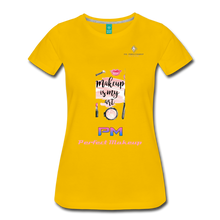 "Load image into Gallery viewer, P.M. - ""Perfect Makeup"" Line - (Makeup Is My Art) Premium Short Sleeve T-Shirt - sun yellow"