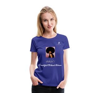 """Beautiful Black Women"" Line - (Classic Afro) Soft Premium T-Shirt - royal blue"