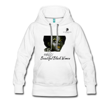 "Load image into Gallery viewer, ""Beautiful Black Women"" Line - (Tastefully Seductive) Women's Soft Premium Hoodie - white"