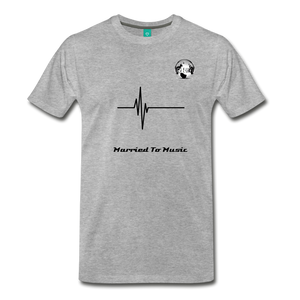 "Premier DJ E-Luv Logo - ""Married To Music"" Signature Men's Premium T-Shirt - heather gray"
