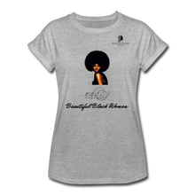 "Load image into Gallery viewer, ""Beautiful Black Women"" Line - (Classic Afro) Relaxed Fit Cotton T-Shirt - heather gray"