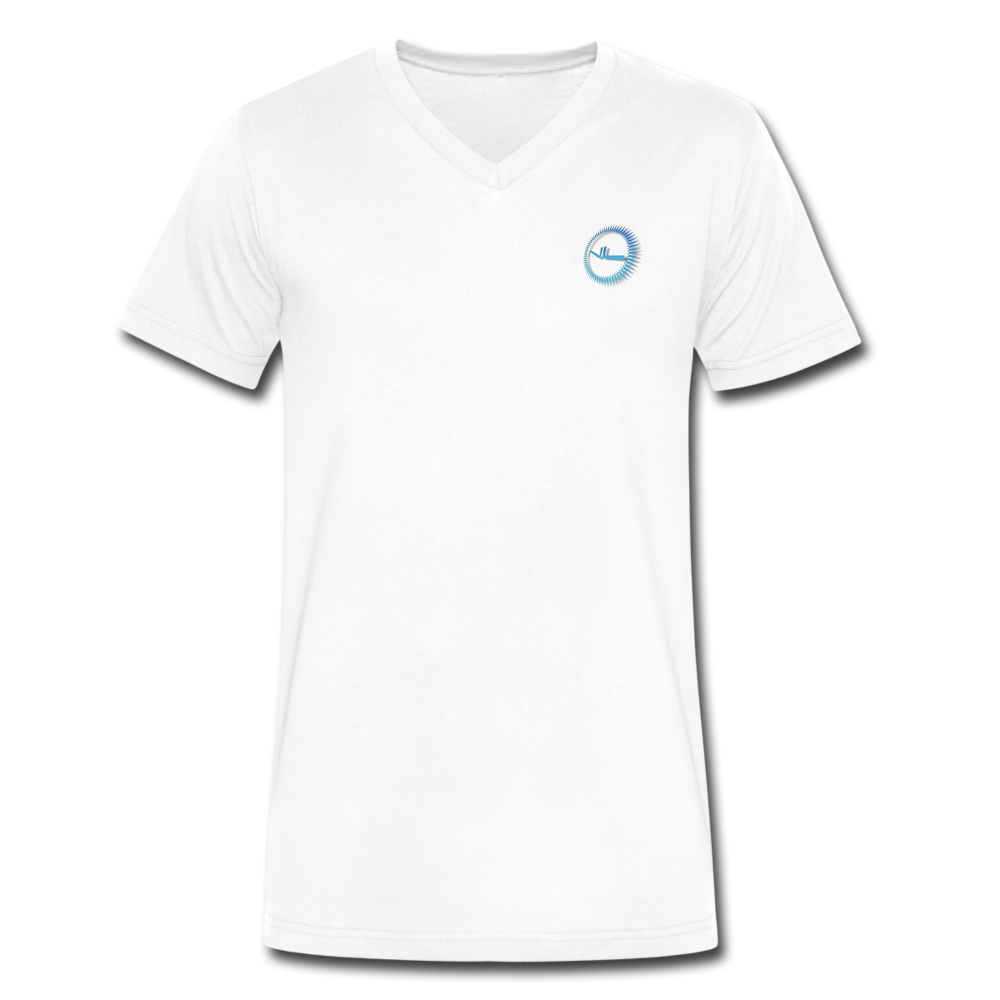 Next Level *Official Logo Signature - Men's Classic V-Neck T-Shirt by Canvas - white