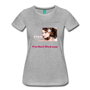 "P.M. - ""Perfect Makeup"" Line - The Boyfriend Soft Premium T-Shirt - heather gray"