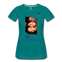 "Load image into Gallery viewer, ""Beautiful Black Women"" Line - (Shades Of Color) Soft Premium Cotton T-Shirt Final - teal"