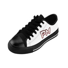 "Load image into Gallery viewer, P.M. - ""Perfect Makeup"" Line - Raspberry Logo Custom Design Women's Low-Top Sneakers"