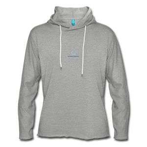 Next Level *Official Unisex Lightweight Terry Hoodie - heather gray