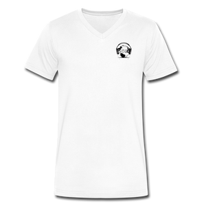 Premier DJ E-Luv Logo -  Men's V-Neck T-Shirt by Canvas - white