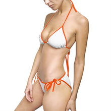 Load image into Gallery viewer, Premier DJ E-Luv *Official Logo *On Sale* - Women's Stylish White-Black  Bikini Swimsuit