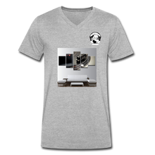 Load image into Gallery viewer, Premier DJ E-Luv Logo - Turntable Wall Art - Men's V-Neck T-Shirt by Canvas - heather gray