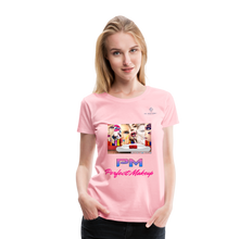 "Load image into Gallery viewer, P.M. -""Perfect Makeup"" Line - Faces Of Makeup Soft Premium T-Shirt - pink"