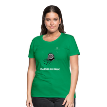 "Load image into Gallery viewer, Women DJ's Dream Logo - ""Married To Music"" Speaker Box Women's Premium T-Shirt - kelly green"