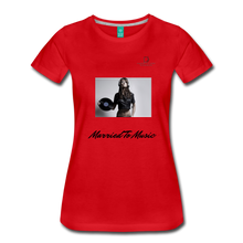 "Load image into Gallery viewer, Women DJ's Dream Logo - ""Married To Music"" Female DJ & Vinyl Women's Premium T-Shirt - red"