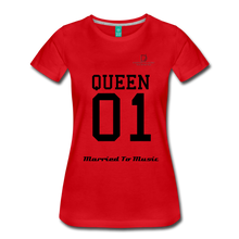 "Load image into Gallery viewer, Women DJ's Dream Logo - ""Married To Music"" Queen 01 Women's Premium T-Shirt - red"